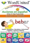 Actions in Spanish : Write & Wipe Flashcards - Book