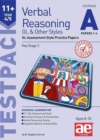 11+ Verbal Reasoning Year 4/5 GL & Other Styles Testpack A Papers 1-4 : GL Assessment Style Practice Papers - Book