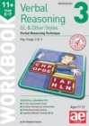11+ Verbal Reasoning Year 5-7 GL & Other Styles Workbook 3 : Verbal Reasoning Technique - Book