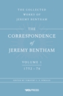 The Correspondence of Jeremy Bentham, Volume 1 : 1752 to 1776 - eBook