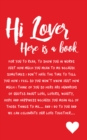 HI LOVER - Book