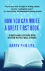 How You Can Write A Great First Book - eBook