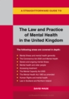 A Straightforward Guide To The Law And Practice Of Mental He Alth In The Uk : Revised Edition 2020 - Book