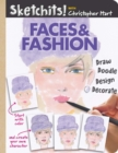 Sketchits! Faces & Fashion : Draw and Complete 100+ Color Templates - Book