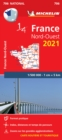 Northwestern France 2021- Michelin National Map 706 : Maps - Book
