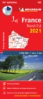 Northeastern France 2021 - Michelin National Map 707 : Maps - Book