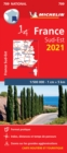 Southeastern France 2021 - Michelin National Map 709 : Maps - Book