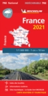 France 2021 - High Resistance National Map 792 : Maps - Book
