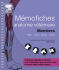 Memofiches anatomie veterinaire - Membres - eBook