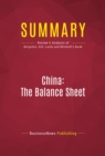 Summary: China: The Balance Sheet : Review and Analysis of Bergsten, Gill, Lardy and Mitchell's Book - eBook
