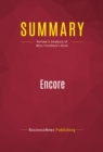 Summary: Encore : Review and Analysis of Marc Freedman's Book - eBook