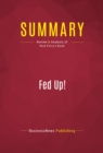 Summary: Fed Up! : Review and Analysis of Rick Perry's Book - eBook