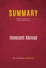 Summary: Innocent Abroad : Review and Analysis of Martin Indyk's Book - eBook