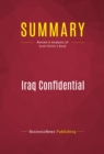 Summary: Iraq Confidential : Review and Analysis of Scott Ritter's Book - eBook