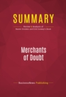 Summary: Merchants of Doubt : Review and Analysis of Naomi Oreskes and Erik Conway's Book - eBook