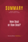 Summary: New Deal or Raw Deal? : Review and Analysis of Burton W. Folsom Jr.'s Book - eBook