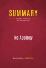 Summary: No Apology : Review and Analysis of Mitt Romney's Book - eBook