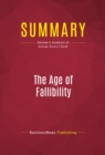 Summary: The Age of Fallibility : Review and Analysis of George Soros's Book - eBook
