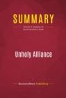 Summary: Unholy Alliance : Review and Analysis of David Horowitz's Book - eBook