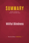 Summary: Willful Blindness : Review and Analysis of Andrew C. McCarthy's Book - eBook