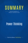 Summary: Power Thinking : Review and Analysis of Mangieri and Block's Book - eBook