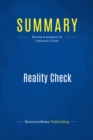 Summary: Reality Check : Review and Analysis of Kawasaki's Book - eBook