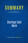 Summary: Startups that Work : Review and Analysis of Kurtzman and Rifkin's Book - eBook