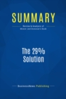 Summary: The 29% Solution : Review and Analysis of Misner and Donovan's Book - eBook