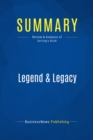 Summary: Legend & Legacy : Review and Analysis of Serling's Book - eBook