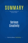Summary: Serious Creativity : Review and Analysis of de Bono's Book - eBook