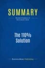Summary: The 110% Solution : Review and Analysis of McCormack's Book - eBook