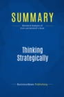 Summary: Thinking Strategically : Review and Analysis of Dixit and Nalebuff's Book - eBook