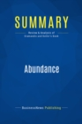 Summary: Abundance : Review and Analysis of Diamandis and Kotler's Book - eBook