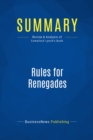 Summary: Rules for Renegades : Review and Analysis of Comaford-Lynch's Book - eBook