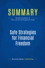 Summary: Safe Strategies for Financial Freedom : Review and Analysis of Van Tharp, Barton and Sjuggerud's Book - eBook