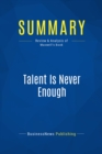 Summary: Talent Is Never Enough : Review and Analysis of Maxwell's Book - eBook