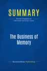 Summary: The Business of Memory : Review and Analysis of Felberbaum and Kranz's Book - eBook