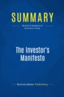 Summary: The Investor's Manifesto : Review and Analysis of Bernstein's Book - eBook