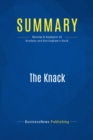 Summary: The Knack : Review and Analysis of Brodsky and Burlingham's Book - eBook