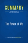 Summary: The Power of We : Review and Analysis of Tisch and Weber's Book - eBook