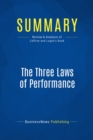 Summary: The Three Laws of Performance : Review and Analysis of Zaffron and Logan's Book - eBook