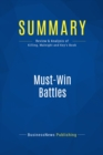 Summary: Must-Win Battles : Review and Analysis of Killing, Malnight and Key's Book - eBook