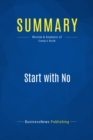 Summary: Start with No : Review and Analysis of Camp's Book - eBook