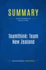 Summary: Teamthink: Team New Zealand : Review and Analysis of Mazany's Book - eBook