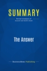 Summary: The Answer : Review and Analysis of Assaraf and Smith's Book - eBook