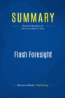 Summary: Flash Foresight : Review and Analysis of Burrus and Mann's Book - eBook