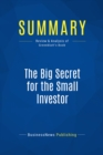 Summary: The Big Secret for the Small Investor : Review and Analysis of Greenblatt's Book - eBook