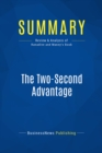 Summary: The Two-Second Advantage : Review and Analysis of Ranadive and Maney's Book - eBook