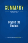 Summary: Beyond the Obvious : Review and Analysis of McKinney's Book - eBook