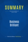 Summary: Business Brilliant : Review and Analysis of Schiff's Book - eBook